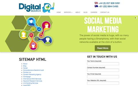Screenshot of Site Map Page digitalsearchgroup.co.uk - Sitemap HTML | Digital Search Group - captured Sept. 19, 2014