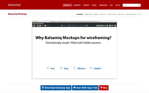 Screenshot of Products Page balsamiq.com - Balsamiq Mockups | Balsamiq - captured Aug. 21, 2016