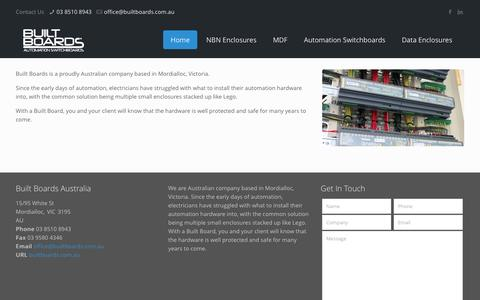 Screenshot of About Page builtboards.com.au - Built Boards | AboutBuilt Boards - captured July 31, 2016