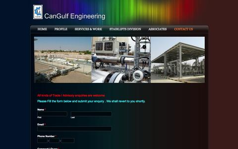 Screenshot of Contact Page cangulf.com - Contact us - CanGulf Engineering - captured Oct. 2, 2014