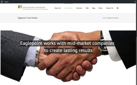 Screenshot of Case Studies Page eaglepointadvisors.com - Eaglepoint Case Studies – Eaglepoint Advisors - captured May 14, 2017