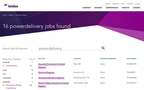 Screenshot of Jobs Page leidos.com - Leidos - Careers in Electrical Engineering - captured Jan. 29, 2019