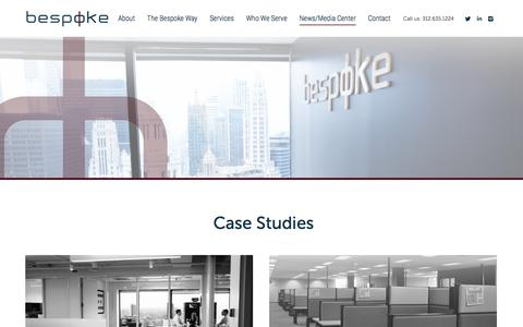 Screenshot of Case Studies Page bespokecre.com - Chicago Commercial Real Estate Case Studies | Bespoke Commercial Real Estate - captured April 19, 2017