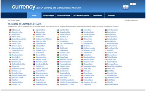 Screenshot of Home Page currency.me.uk - Currency - captured Oct. 15, 2017