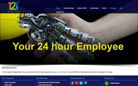 Screenshot of Blog increasethewedge.com - Increase The Wedge | Just another WordPress site - captured Oct. 29, 2014