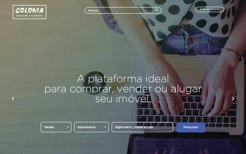 Screenshot of Home Page colonia.com.br - Colonia Imóveis - Consultoria de Imóveis Ltda - captured Sept. 28, 2018