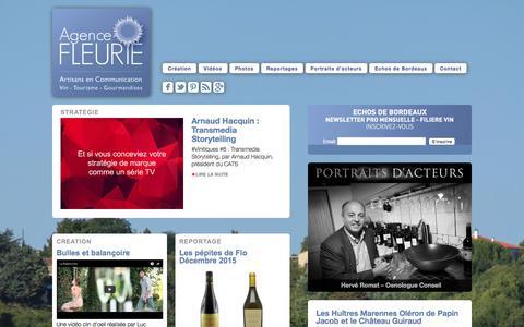Screenshot of Home Page agence-fleurie.com - Agence Fleurie - Artisans en Communication - captured Dec. 24, 2015
