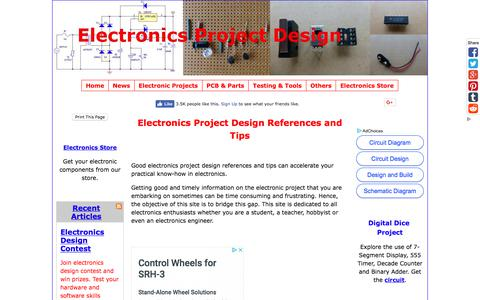 Screenshot of Home Page electronics-project-design.com - Electronics Project Design Schematics and circuit diagrams - captured Sept. 23, 2018