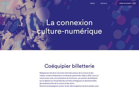 Screenshot of Support Page mapado.com - La connexion culture-numérique - captured May 22, 2017