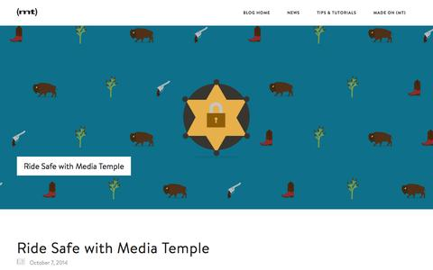 Screenshot of Blog mediatemple.net - Blog: Web hosting, domains, and 24/7/365 support - - Media Temple - captured Oct. 10, 2014