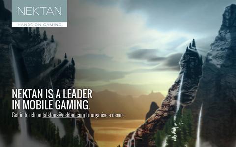Screenshot of Home Page nektan.com - NEKTAN - Hands On Gaming - captured Jan. 29, 2015