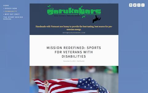 Screenshot of Blog garukabars.com - Garuka Blog — Garuka Bars - captured Sept. 26, 2014