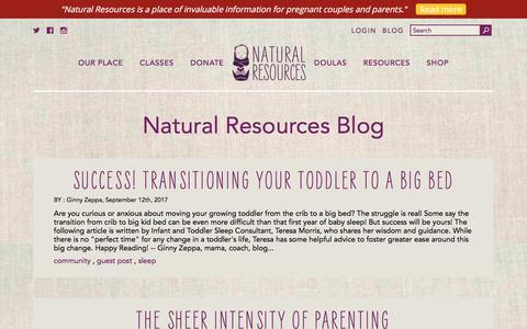 Screenshot of Press Page naturalresources-sf.com - Natural Resources Blog   Natural Resources - captured Nov. 5, 2017