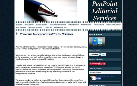 Screenshot of Home Page penpointeditorial.com - Welcome to PenPoint Editorial Services - PenPoint Editorial Services - captured Oct. 2, 2014