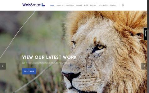 Screenshot of Home Page websmart.com.au - WebSmart Design - captured Jan. 26, 2015