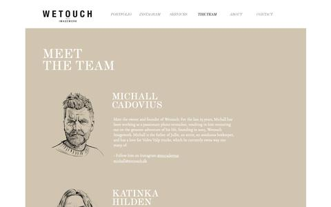 Screenshot of Team Page wetouch.dk - Wetouch Imagework – The team - captured Nov. 9, 2018