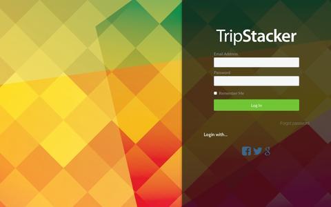Screenshot of Login Page tripstacker.com - Login - TripStacker - captured May 25, 2016