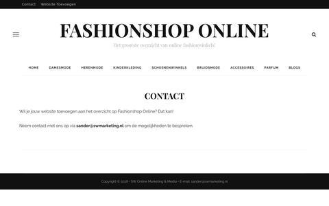 Screenshot of Contact Page fashionshoponline.nl - Contact - Fashionshop Online - captured Oct. 10, 2018