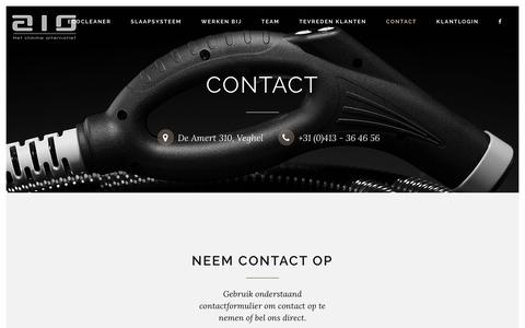 Screenshot of Contact Page aionederland.nl - Contact - AIO - captured July 29, 2018