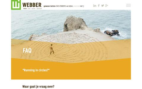 Screenshot of FAQ Page webber.nl - FAQ - WEBBER Interactief - captured Nov. 29, 2016