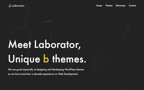 Screenshot of Home Page laborator.co - Home - Laborator - captured May 20, 2017