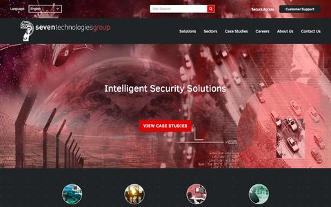 Screenshot of Home Page 7techgroup.com - Seven Technologies Group | Intelligent Security Solutions | Seven Technologies - captured Dec. 26, 2016