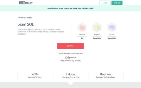 Learn SQL | Codecademy