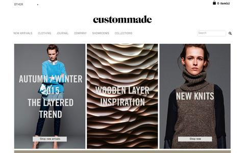 Screenshot of Home Page custommade.dk - Custommade - The Official Online Store - captured Oct. 1, 2015