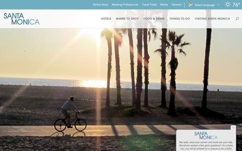 Screenshot of Contact Page santamonica.com - Contact the Santa Monica Travel & Tourism - captured Sept. 22, 2018