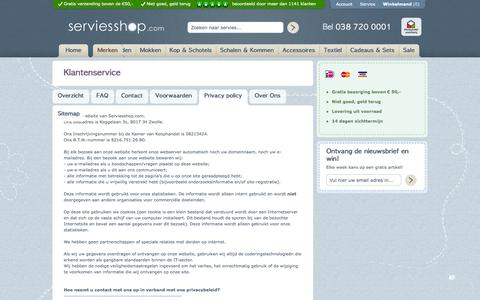 Screenshot of Privacy Page serviesshop.com - Privacy policy - captured Oct. 26, 2014