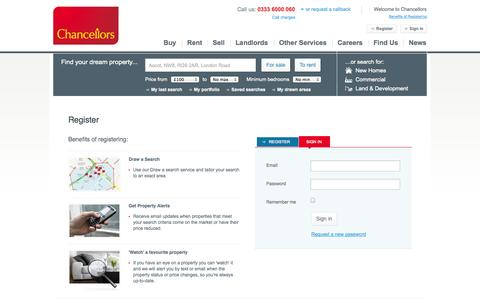 Screenshot of Login Page chancellors.co.uk - Login to your account - captured Sept. 22, 2014