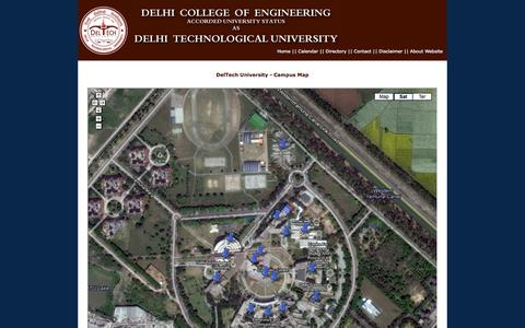 Screenshot of Maps & Directions Page dce.edu - Delhi Technological University - Delhi College of Engineering - Campus Map - captured Sept. 23, 2014