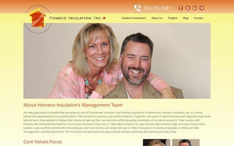 Screenshot of About Page homecoinsulation.com - Homeco Insulation - captured Nov. 2, 2014