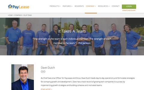 Screenshot of Team Page paylease.com - Executive Team | PayLease - captured Nov. 18, 2015