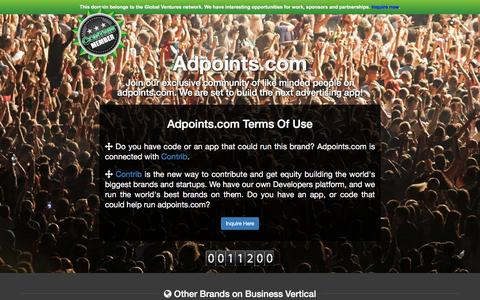 Screenshot of Developers Page adpoints.com - adpoints.com - captured Dec. 4, 2015