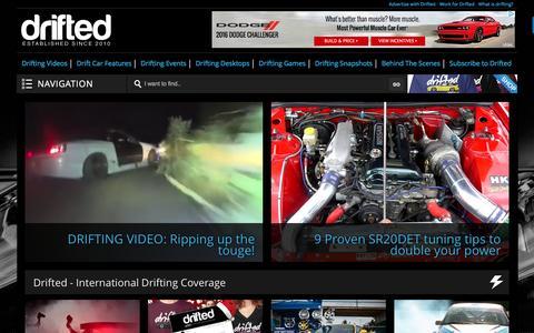 Screenshot of Home Page drifted.com - Drifted   International Drifting Coverage - captured Nov. 24, 2016