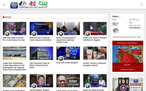 Screenshot of Press Page actionnewsnow.com - News - captured Sept. 26, 2018