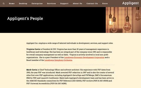 Screenshot of Team Page appligent.com - Appligent People – Appligent - captured July 30, 2018