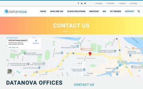 Screenshot of Contact Page datanova.com.au - Contact us - captured Nov. 4, 2019