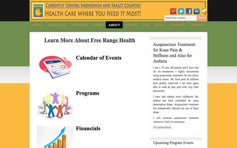Screenshot of About Page freerangehealth.org - About | Free Range Health - captured Sept. 30, 2014