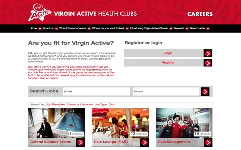 Virgin Active Careers - home