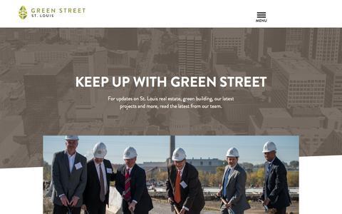 Screenshot of Blog greenstreetstl.com - Blog - Green Street - captured Feb. 1, 2016