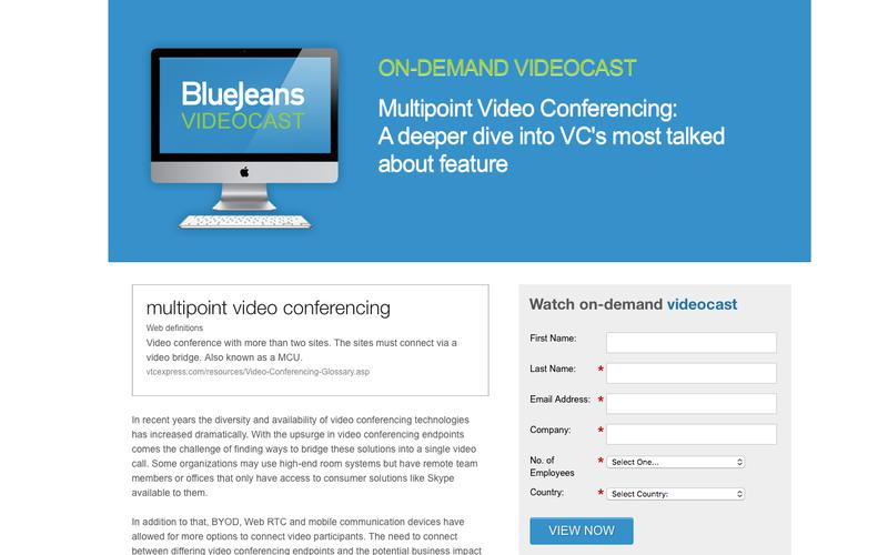 Multipoint Video Conferencing Videocast Series | Blue Jeans