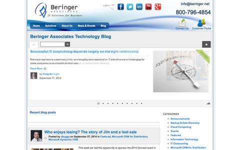 Screenshot of Blog beringer.net - Featured | - captured Oct. 5, 2014