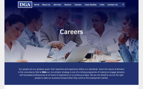Screenshot of Jobs Page dga.eu.com - - DGA EU - captured Feb. 8, 2016
