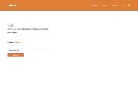 Screenshot of Login Page rubiconlaw.com - Login | Rubicon Law - captured Nov. 11, 2017