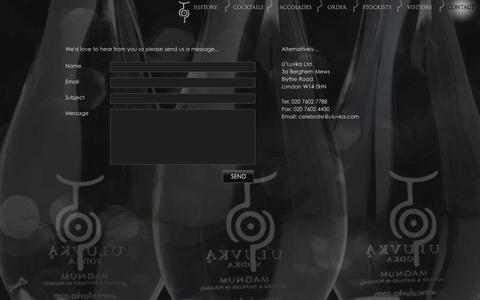Screenshot of Contact Page uluvka.com - Contact | U'Luvka - captured Oct. 3, 2014