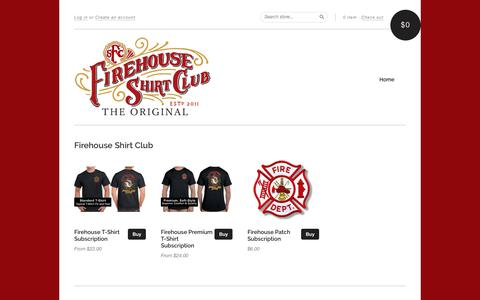 Screenshot of Signup Page firehouseshirtclub.com - Firehouse Shirt Club - captured Aug. 13, 2018