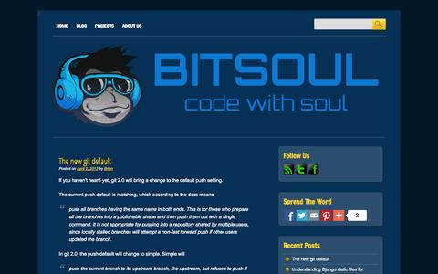 Screenshot of Blog bitsoul.com - BitSoul | Code with Soul - captured Oct. 5, 2014