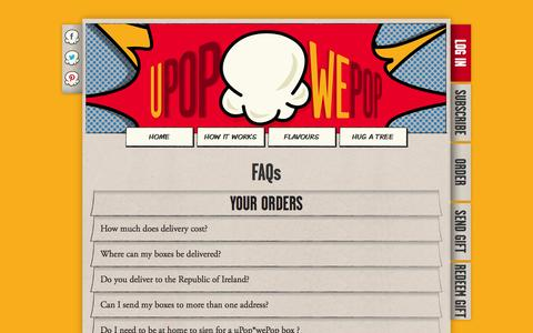 Screenshot of FAQ Page upopwepop.ie - uPop*wePop :: FAQ - captured Oct. 26, 2014